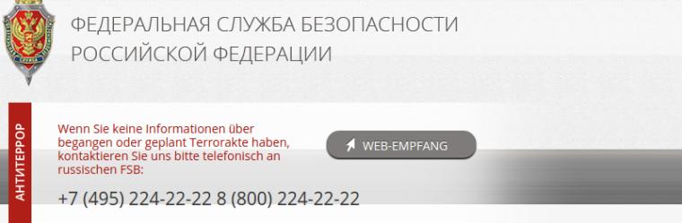 Informationen russischer FSB Bundessicherheitsdienst 1742017 174050