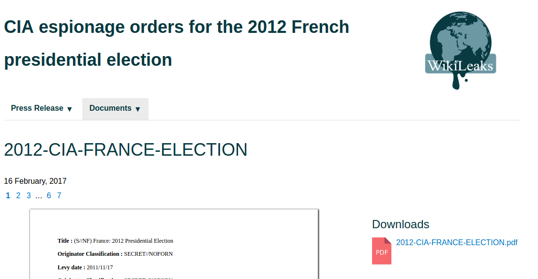Wikileaks 252 ber die einflussnahme von wahlen in frankreich team